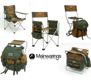 SHAKESPEARE DELUXE FOLDING CHAIRS & RUCKSTOOLS