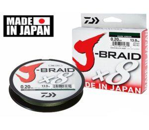 DAIWA J-BRAID X8 300M DARK GREEN